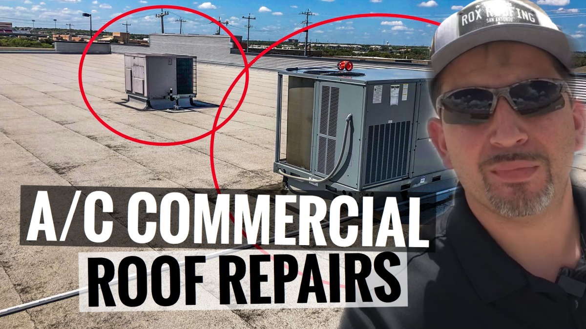 Commercial A/C Roof Repairs in Converse, Texas.