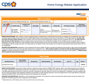 Home Energy Rebate Application - Rox Roofing